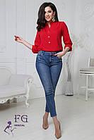 """Женская блузка """"Sellin"""" красный, 42-44, фото 1"""