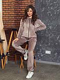 Женский спортивный костюм  из велюра, разм 52,54,56, 4 цвета, фото 4