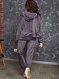 Женский спортивный костюм  из велюра, разм 52,54,56, 4 цвета, фото 3