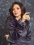 Женский спортивный костюм  из велюра, разм 52,54,56, 4 цвета, фото 2