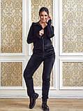 Женский спортивный костюм  из велюра, разм 52,54,56, 4 цвета, фото 8