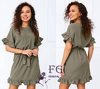 """Літнє плаття молодіжне """"Kira""""  Розпродаж моделі 46-48, Хакі, фото 1"""