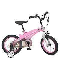 Велосипед детский 14д. Projective WLN1439D-T-2F, SKD 95, магниевая рама, желтый