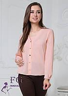 """Женская блузка  """"Камилла"""" 44, персиковый, фото 1"""