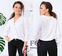 """Женская блузка  """"Камилла"""" 46, белый, фото 1"""