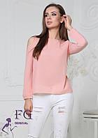 """Женская модная блузка """"Renata"""" 42-44, персиковый, фото 1"""