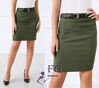 """Женская юбка мини """"Gloss"""" Хаки, 44, фото 1"""
