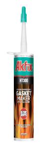 Термостойкий силиконовый герметик Akfix HT300 красный (310 ml)