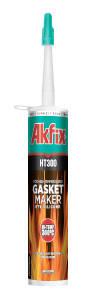 Термостойкий силиконовый герметик Akfix HT300 красный (310 ml), фото 2
