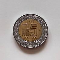 5 новых песо Мексика 1993 г., фото 1