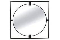 Зеркало настенное Тесо в металлической раме, 90см, цвет - чёрный