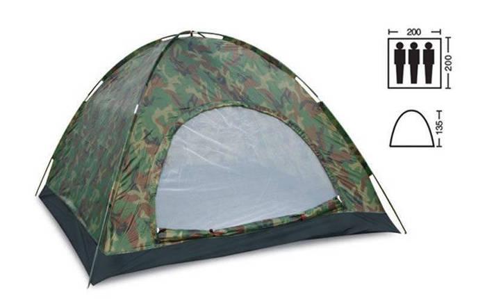 """Палатка туристична 3-х місцева камуфляж """"Лісок"""", фото 2"""