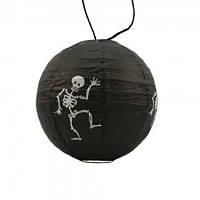 Декор подвесной (20см) черный со скелетом