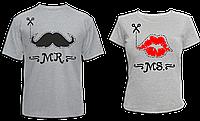 """Парные футболки """"Усы и губы"""", фото 1"""