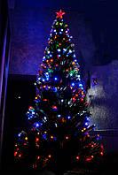 Новогодняя светодиодная, светящияся, оптоволоконная, елочка 120см