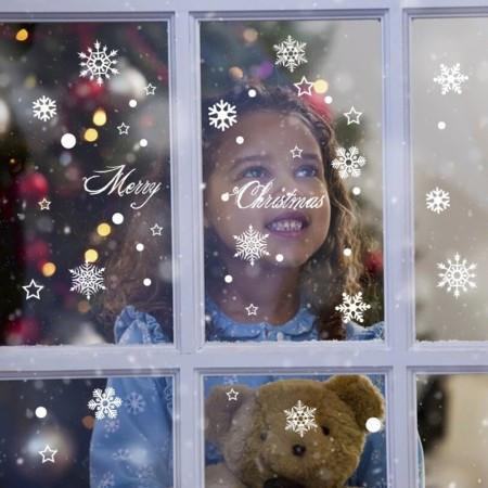 Интерьерная наклейка Снежинки DMJ 3550-010 35х50