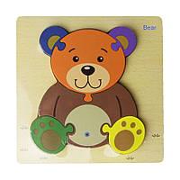Деревянная игрушка Пазлы MD 2453 (Медвежонок)