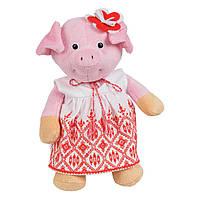 Мягкая игрушка Свинка девочка в вышиванке 25 см (СВ-0022)
