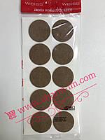 Мягкие войлочные наклейки для мебели (демпферы) D-45 мм Коричневые