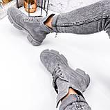 Ботинки женские Rebeca серые ДЕМИ 2966, фото 4