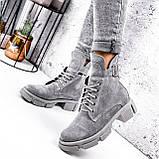Ботинки женские Rebeca серые ДЕМИ 2966, фото 5