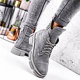 Ботинки женские Rebeca серые ДЕМИ 2966, фото 6