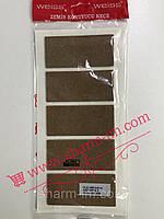 Мягкие войлочные наклейки для мебели (демпферы) 40х90 мм Коричневые