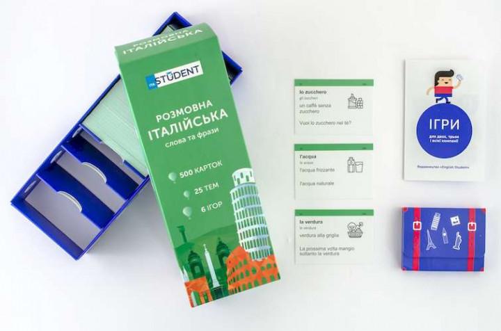 Настольная игра English Student Карточки для изучения разговорного итальянского языка (41315843)