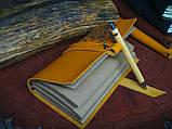 Кожаный блокнот Harry Potter,  Блокнот Гарри Поттер,  эмблема Хогвартс. (ручка из бамбука в подарок), фото 6