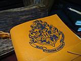 Кожаный блокнот Harry Potter,  Блокнот Гарри Поттер,  эмблема Хогвартс. (ручка из бамбука в подарок), фото 3