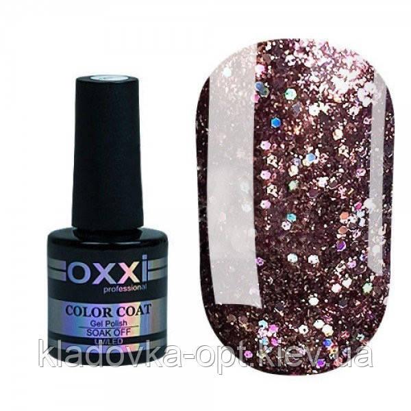 Гель-лак Oxxi Professional Star Gel №10 (шоколадно-коричневий, глітерний), 10 мл