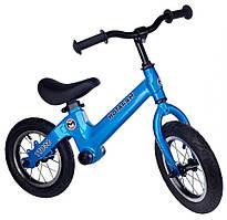 Беговел детский  Maraton Scott с 12 дюймовыми колёсами (синий металлик)