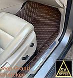 Кожаные Коврики на Jeep Grand Cherokee WK2 из Экокожи 3D (2010-2017) Коврики Джип Гранд Чероки, фото 4