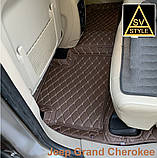 Кожаные Коврики на Jeep Grand Cherokee WK2 из Экокожи 3D (2010-2017) Коврики Джип Гранд Чероки, фото 2