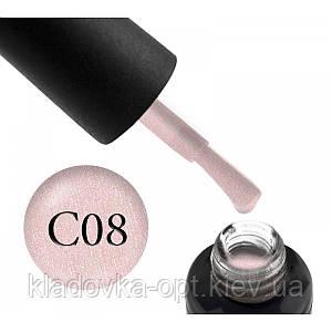 Камуфлююча база Oxxi Professional №08 (світло-рожева з мікроблиском), 10 мл