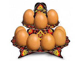 Декоративна підставка для яєць №12 Хохлома (12 яєць) ТМ EASTERS