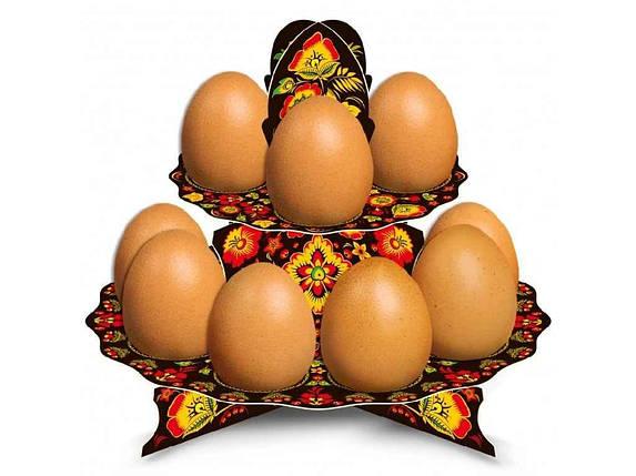 Декоративна підставка для яєць №12 Хохлома (12 яєць) ТМ EASTERS, фото 2