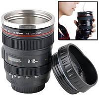 Чашка термос объектив Canon 24-105mm кружка бленда, фото 1