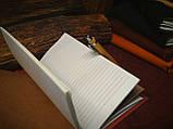 Кожаный блокнот,  красный блокнот,  Блокнот с цветами, фото 6