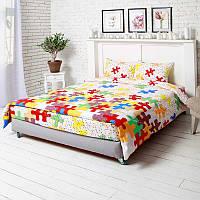 Комплект постельного белья пазлы евро (50х70) Руно