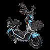Электрический мопед  CITY gy-4 350W/48V/20AH(MG) (серо-голубой), фото 3