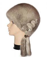 """Женская норковая шапка """"Конфетка"""" (колотый лед)"""