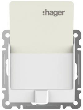 Выключатель для отельных карточек Hager WL0510 Lumina-2, белый,