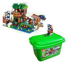 """Конструктор Minecraft (аналог) """"Лесная хижина"""" в пластиковом боксе арт. 7425"""