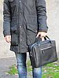 Чоловіча практична шкіряна сумка Agruz 72991 чорний, фото 2