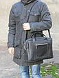 Чоловіча практична шкіряна сумка Agruz 72991 чорний, фото 4