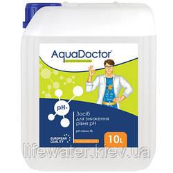 Жидкое средство для снижения pH AquaDoctor pH Minus HL (Соляная 14%) (10л)