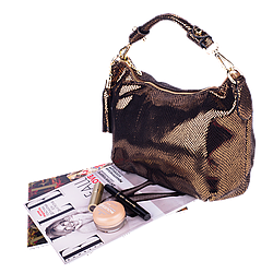 Жіноча сумка Realer P112 антична латунь
