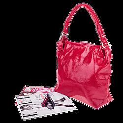 Шкіряна жіноча сумка Realer 2032-1 червона