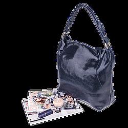 Кожаная женская сумка Realer 2032-1 серая